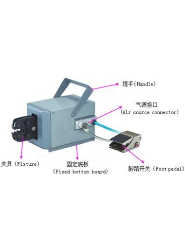 HC-02 pneumatic terminal crimping machine