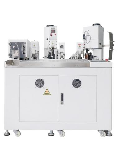 HC-20+HRSG Fully automatic shrink tube heating wire terminal crimping machine